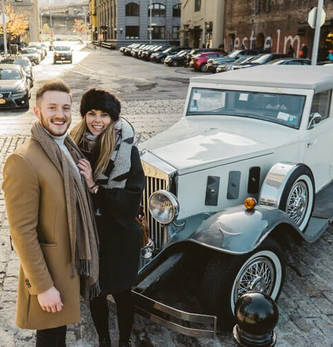 Photo Antique Car + Private Rooftop Proposal | Dare to Dream