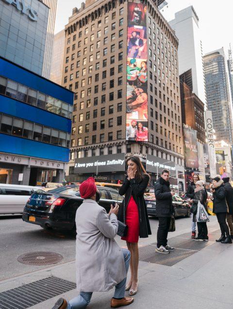 Photo Times Square Billboard Proposa   Dare to Dream