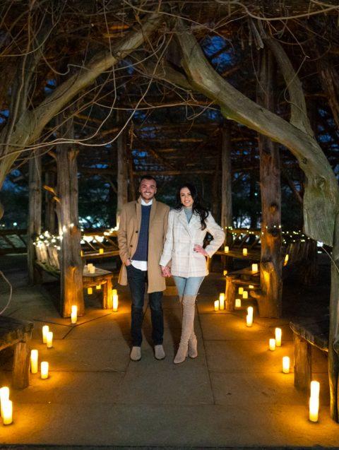 Photo Sunset candlelight Wedding Ceremony