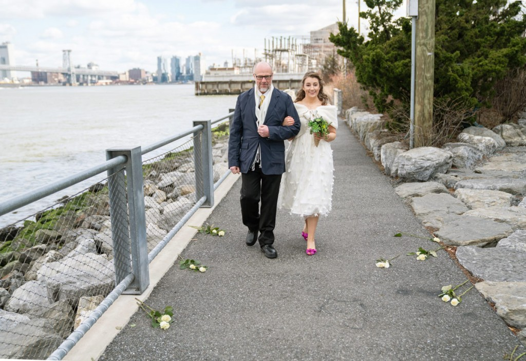 Photo 3 Leap Day intimate wedding ceremony by the Manhattan Bridge