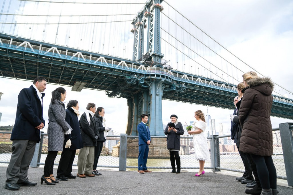 Photo 7 Leap Day intimate wedding ceremony by the Manhattan Bridge