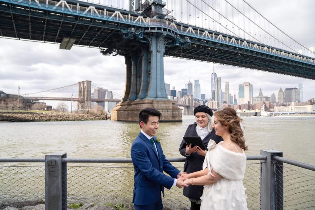 Photo 15 Leap Day intimate wedding ceremony by the Manhattan Bridge