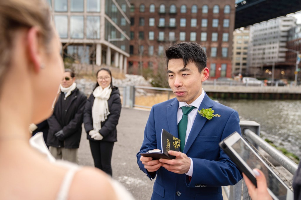 Photo 11 Leap Day intimate wedding ceremony by the Manhattan Bridge