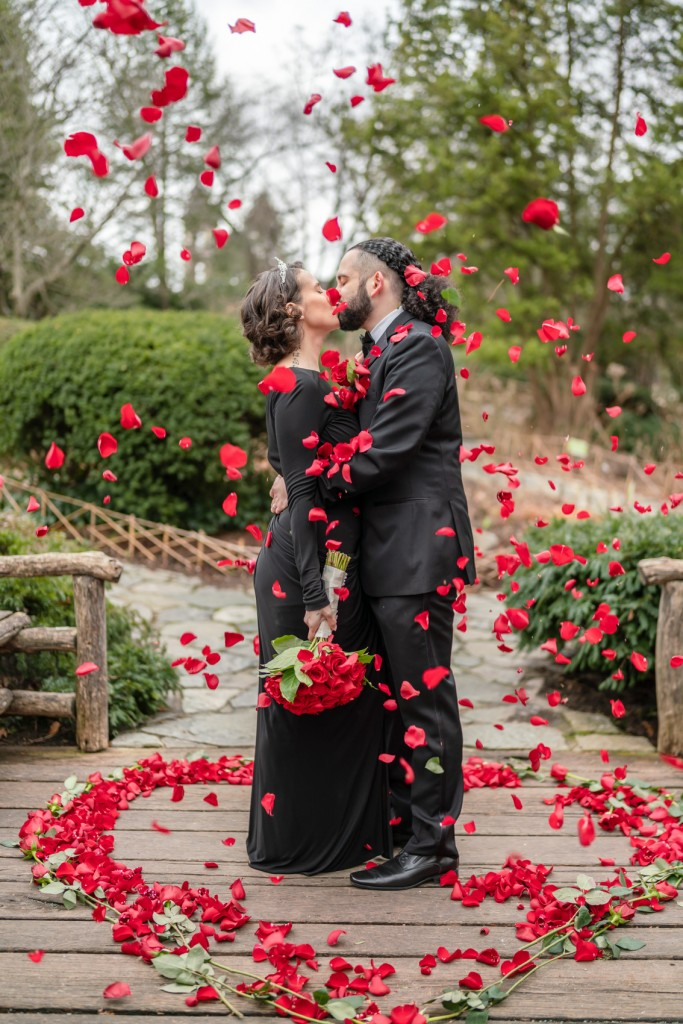 Photo 5 Nicolas and Neecha flower heart ceremony in Central Park.